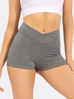 newchic Women Breathable Quick-Drying Solid Seamless Skinny Fit High Waist Sports Yoga Shorts