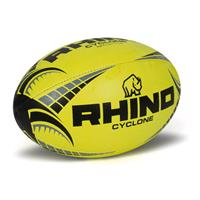 Rhino rugbybal Cyclone junior rubber/polyester geel