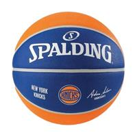 Spalding basketbal NY Knicks rubber blauw/oranje