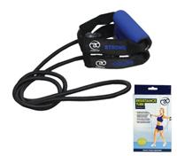 Fitness-Mad Fitness Mad weerstandsband sterk 1,3 m rubber/nylon donkerblauw