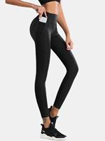 newchic Women Breathable Hip Lift Seam Elastic High Waist Sports Yoga Pants With Pocket