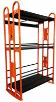 Sveltus pilates ringen opbergrek 160 cm staal oranje/zwart