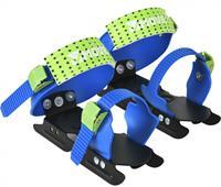 Move glij ijzers junior verstelbaar staal zwart/blauw /34