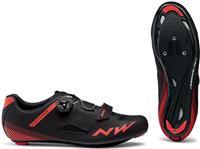 Northwave Core plus fietsschoenen (Kleur: rood/zwart, Schoenmaat: 47)