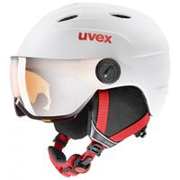 UVEX Skihelm junior visor pro white red mat-52 -