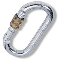 Kong - Oval Stahlschrauber - Stalen karabiner grijs/wit