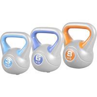 Voordeelset Kettlebells 3, 6 en 8 kg Kunststof Trendy