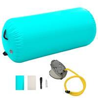 vidaXL Gymnastiekrol met pomp opblaasbaar 120x75 cm PVC groen