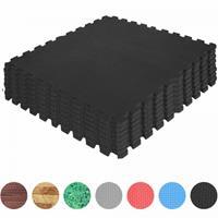 Vloermatten - Beschermingsmatten - 8 stuks -  Totaal 2,55 m2 - Donkere houtkleur