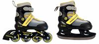 AMIGO skates 2 in 1 Slide junior polypropyleen zwart/geel /33