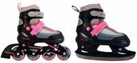 AMIGO skates 2 in 1 Slide meisjes polypropyleen zwart/roze /37