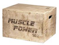 musclepower Muscle Power Houten Plyo Box Klein