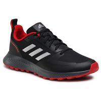 adidas Performance Runfalcon 2.0 hardloopschoenen trail zwart/zilver/grijs