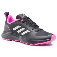 adidas Performance Runfalcon 2.0 hardloopschoenen trail zwart/zilver/roze
