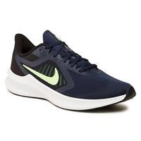 Nike Downshifter 10 hardloopschoenen donkerblauw/limegroen/zwart