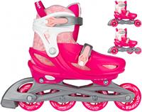 Nijdam 3 in 1 skates Floral Switch polyester roze/wit  36 S