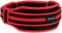 Atipick gewichthefgordel 12 cm nylon zwart/rood 100 cm