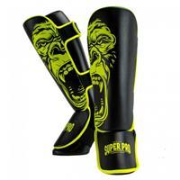 Super Pro scheenbeschermer Gorilla kunstleer geel/zwart