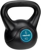 Avento kettlebell 6 kg zwart/blauw