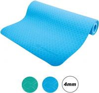 Schildkröt Fitness yogamat 183 cm blauw 2 delig