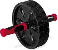 Care Fitness fitnesswiel Ab Roller 19,5 cm rubber zwart/rood