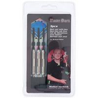 3x Dartpijlen Set In Opberg Etui 24 Grams - Darten Sport Artikelen Pijltjes Zwart/blauw