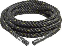 TRX battle rope 9 m polyester 8 kg zwart