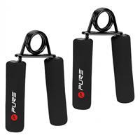 Pure2Improve handtrainer hard 4 mm staal/foam zwart 2 stuks