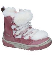 Geox Donker Roze Boots met Rits/Veter