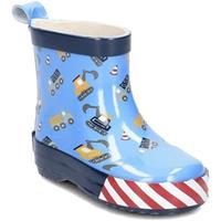 Playshoes Rubberen laars halve voorraad bouwplaats blauw - Blauw - - Jongen