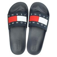 Tommy Jeans Flag Pool Slide badslippers blauw