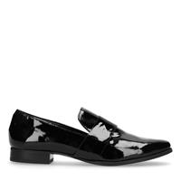Manfield Lak zwarte loafers