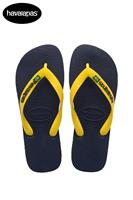 Havaianas Brasil Logo Slippers Blue/yellow