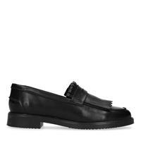 Sacha Zwarte loafers met jamboreeklep - zwart
