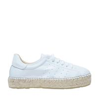 Sacha Witte lage sneakers met touwzool - wit