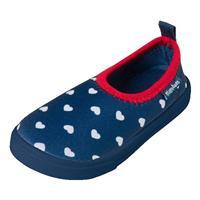 Playshoes Aqua-Slipper Hart - Blauw - Meisjes