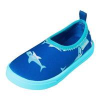 Playshoes Aqua slipper haai - Blauw - - Jongen/Meisjes