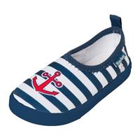 Playshoes waterschoenen navy/wit gestreept