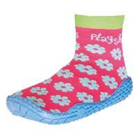 Playshoes zwemsokken meisjes bloemetjes roze/blauw /25