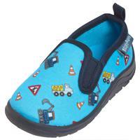 Playshoes Slipper bouwplaats blauw - Blauw - - Jongen
