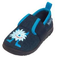 Playshoes Slipper Monster jeans blauw - Blauw - - Meisjes
