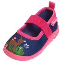 Playshoes marine pantoffelherten/roze - Roze/lichtroze - - Meisjes