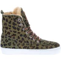 Shoesme Low Boots VU9W039-J Green Leopardo