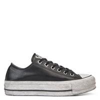 Converse Chuck Taylor All Star Leather Smoke Platform Low Top