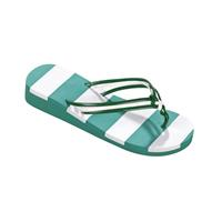 Beco teenslippers dames groen/wit