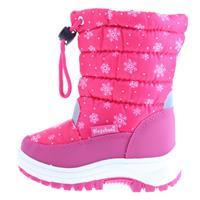 Playshoes snowboots sneeuwvlokken met koord en rits junior roze /29