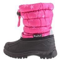 Playshoes Winter Boatie Sterren roze - Roze/lichtroze - - Meisjes