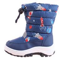 Playshoes snowboots space met koord en rits junior blauw /25