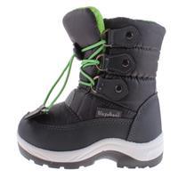 Playshoes snowboots met koord junior grijs/groen /25