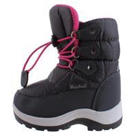Playshoes snowboots met koord junior grijs/roze /27